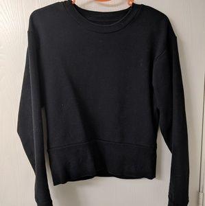 Everlane Black Cropped Sweatshirt (S)